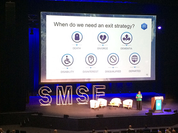 Julie Steed presenting at the SMSF Conference